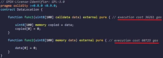 calldata vs memory